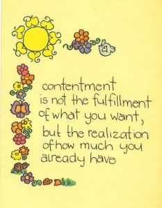 SANTOSHA ~  CONTENTMENT